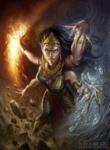 Água, Fogo, Terra, Vento, Coração. Pela união de seus poderes...